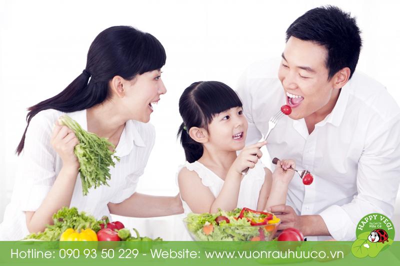 Happy Vegi - Lợi ích của rau hữu cơ đối với trẻ nhỏ